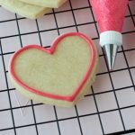 sugar cookie outlined with royal icing