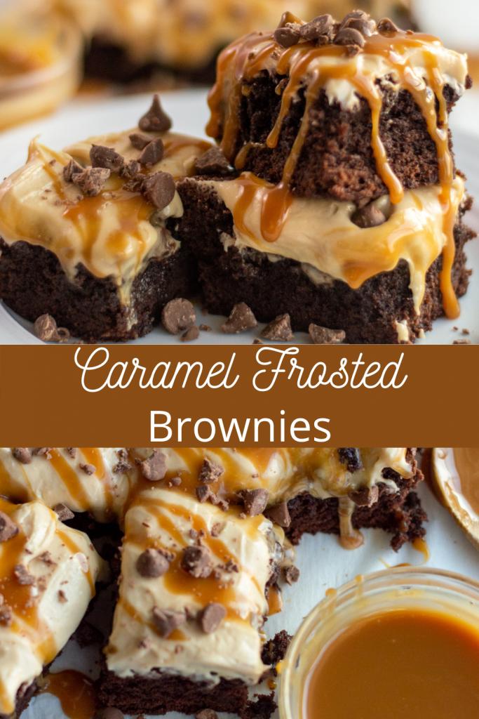 caramel brownie recipe on Pinterest