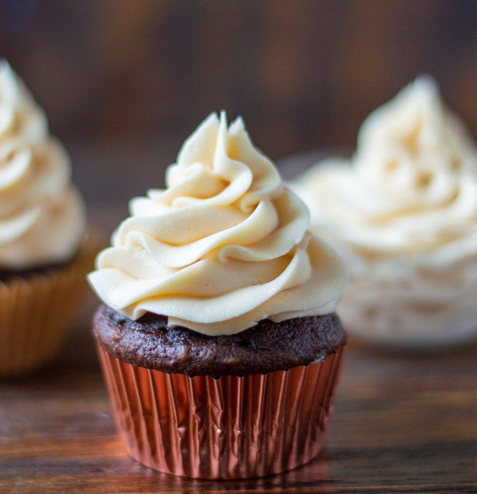 caramel buttercream cupcakes